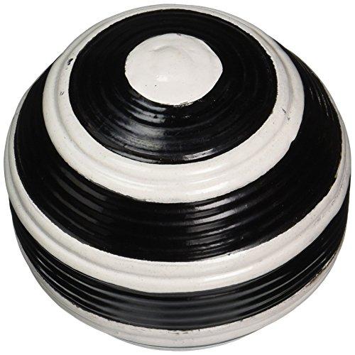 Dimond Home Striped Croquet Ball, Black Pottery Barn Classic Stripe