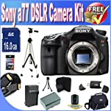Sony A77 24.3 MP Digital SLR with Translucent Mirror Technology (Body Only) W/8GB SDHC Memory + Extended Life Battery + Deluxe Case w/Strap Accessory Saver Bundle!
