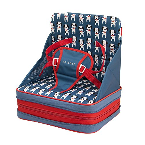 JJ Cole Fire Dogs Feeding Seat, White/Red/Blue/Black
