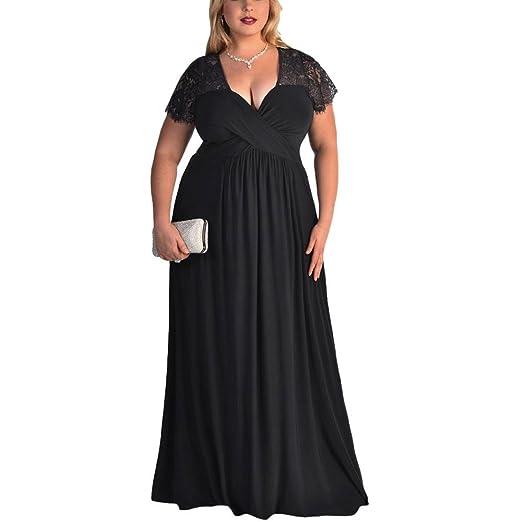 eedea5a8316 Clearance Women Dresses High Waist Cocktail Party Evening Long Lace Dress  Beach Sundress for Summer (