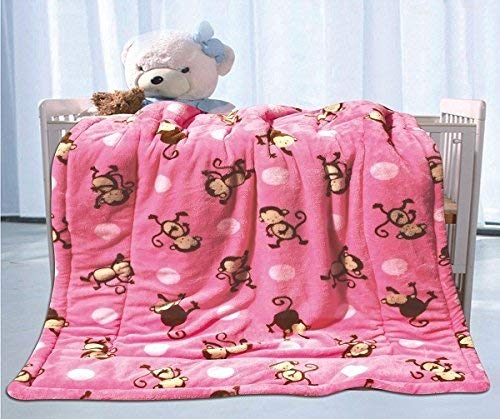 Luxury Home Collection Baby Blanket Toddler Sumptuously Soft Plush with Sherpa Backing Childrens Stroller Cover Warm 40
