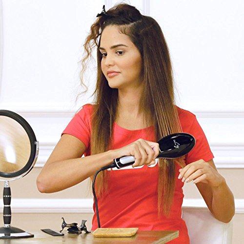 Palson Liz - Cepillo alisador (pantalla LCD, 220-240 V, 43 W), negro: Amazon.es: Salud y cuidado personal
