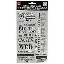me & my BIG ideas Glitter Sticker Flip Value Pack, Black and White Wedding
