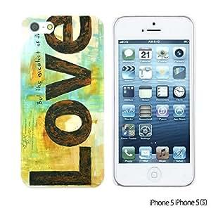 OnlineBestDigital - Typography Pattern Hard Back Case for Apple iPhone 5S / Apple iPhone 5 - Love