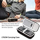 LTGEM Case for Bose Soundlink Mini / Mini 2 Bluetooth Portable Wireless Speaker - with Mesh Pocket for Accessories - Fits with the Bose Silicone Soft Cover.