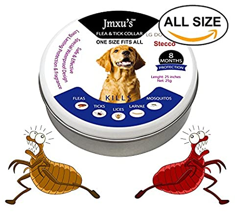 Flea Tick Collar for ALL SIZE Dogs and Puppies 8 Months Protection New Waterproof Design – Natural, Non-toxic, Hypoallergenic - No Scratching & Prevents Fleas, Ticks and (Dog Flea Heartworm)