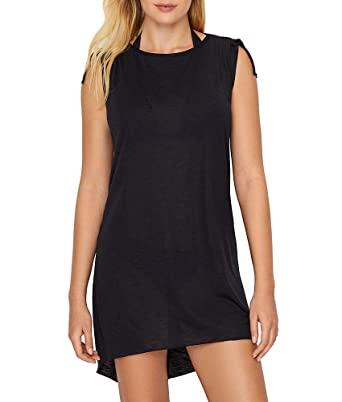 b5a015c125 BECCA Breezy Basics Swim Cover-Up, M/L, Black at Amazon Women's Clothing  store: