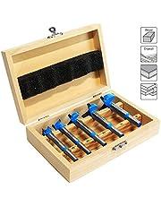 S&R Fräser-Set HM, Schaft 8mm, Holzkoffer, geschmiedeter Werkzeugstahl, Schneideplatten aus HM in Holzbox