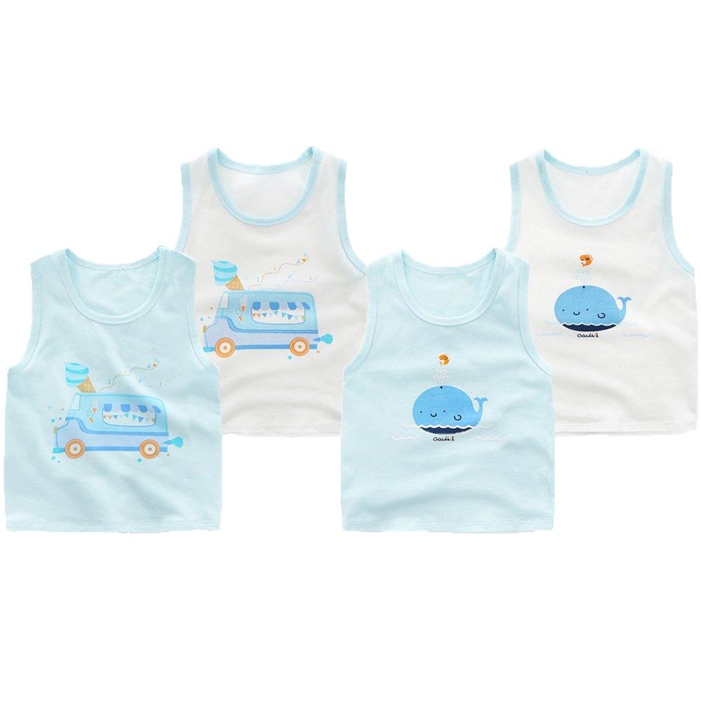 JT-Amigo Canottiere di cotone Bambini Bambino, Confezione da 4 KidsUnderwear017