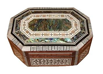 Egyptian Mosaic Jewelry Trinket Box Mother of Pearl BX3 Amazonco