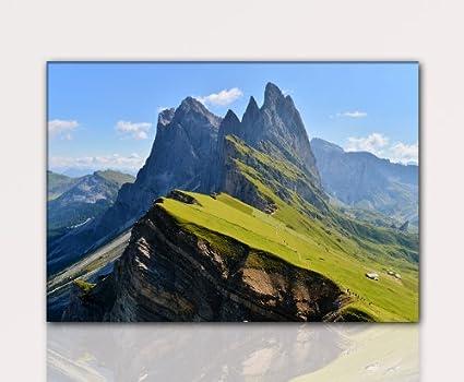 Alpen Italien 100x70cm Foto sobre lienzo, XXL Fotos completamente ...