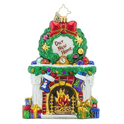Christopher Radko Beautiful Blaze Our First Home Christmas Ornament by Christopher Radko