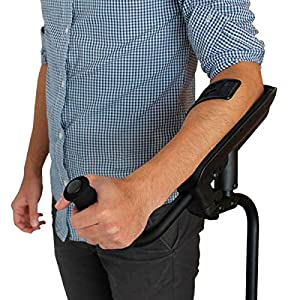 KMINA - Crutches Adults Comfy Handle, Crutch Adults Black, Forearm Crutches Adults, Smart Crutch, KMINA PRO Left Unit 16