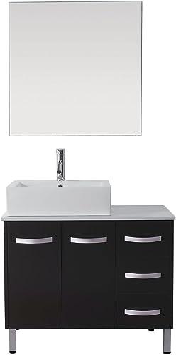 Virtu USA UM-3069-S-ES-001 Tilda 36″ Single Bathroom Vanity Set