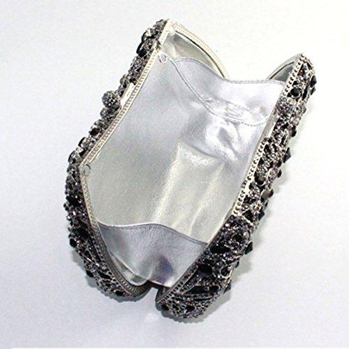 Sac Diamant Fashion Pour à Main De Sac Party Femme Soirée Black BawxBrqA