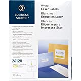 Business Source 26120 Mailing Labels Shipping Laser 3-1/2''x5 400/PK White