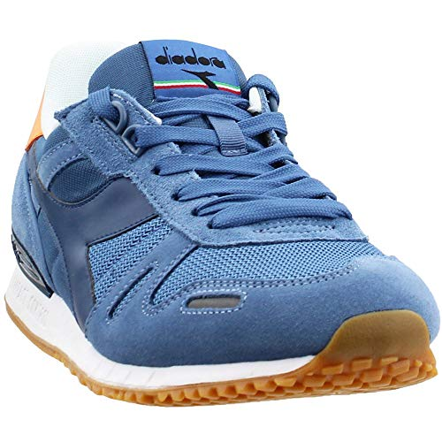 Diadora Titan II Mens Blue Suede/Nylon Athletic Lace Up Running Shoes 9
