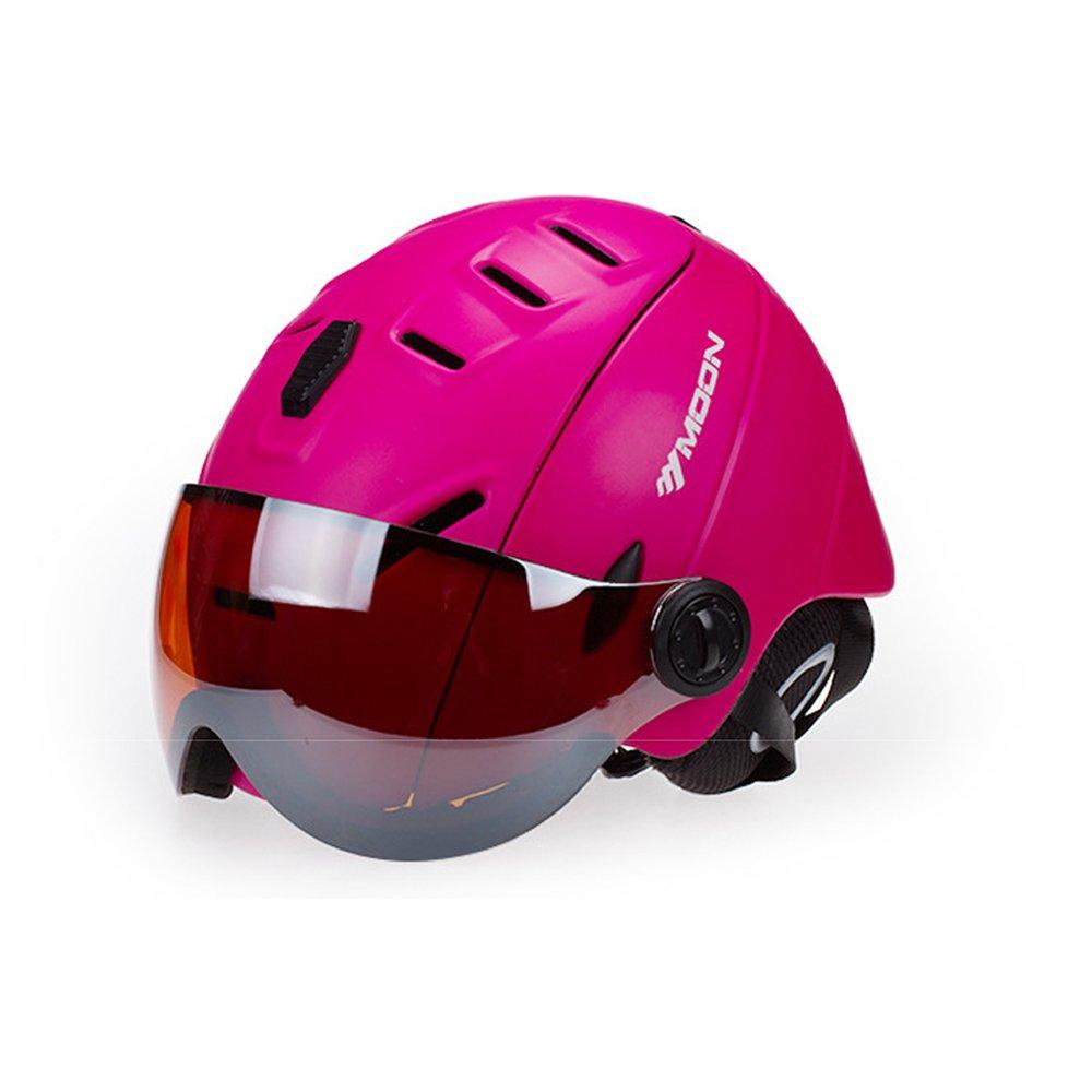 2-in-1 Ski Helmet Goggles Snowboard Integrated Men Women Protective Gear Ski Goggles