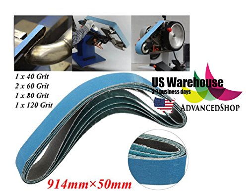 5pcs 914x50mm Mixed Grit Sanding Belts Zirconia 40/60/80/120 Grit Sanding Belts [US Warehouse] by AdvancedShop