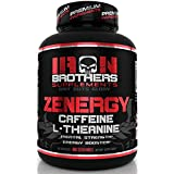 Energy Pills Caffeine (Arabica Beans) L-Theanine 200 mg - No Crash No Jitters Focus & Clarity for Your Mind & Body - Top Nootropic Stack for Cognitive Performance - 60 Veggie Capsules