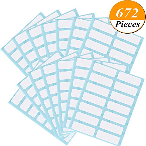 - Kenkio 672 Pieces File Folder Labels Name Label Filing Envelopes Accessories Bottle Cup White Rectangle Label Price Stickers