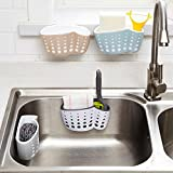 LILACORP 1pc Sucker Kitchen Sink Drain Sponge Brush Soap Holder Bathroom Storage Basket Organizer Bag Stand Rack Gadget Accessories