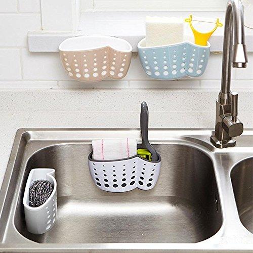 LILACORP 1pc Sucker Kitchen Sink Drain Sponge Brush Soap Holder Bathroom Storage Basket Organizer Bag Stand Rack Gadget Accessories by LILACORP