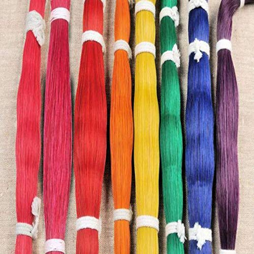 Tails Hair - oz Dyed Horsehair Horse hair Natural Quality Crafts Pow Wow Regalia Leather craft Rainbow Choice of Colors