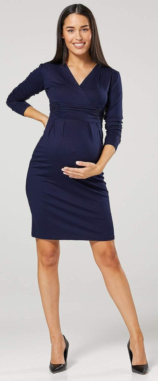 Zeta Ville Donna maternit/à LAllattamento al Seno Maglia Matita Vestito 285c