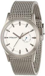 Johan Eric Men's JE1300-04-001 Agersø Stainless Steel Silver Dial Date Mesh Bracelet Watch