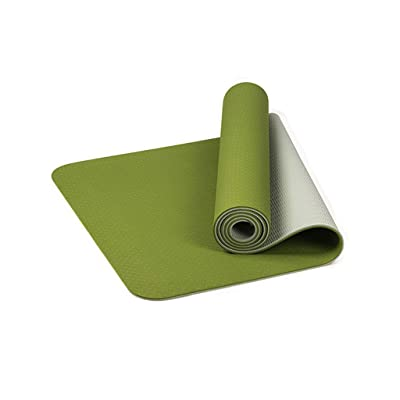 Amlaiworld Yoga Mat Extra Thick Mat TPE Eco Friendly Non Slip Fitness Exercise Mat (Green): Clothing