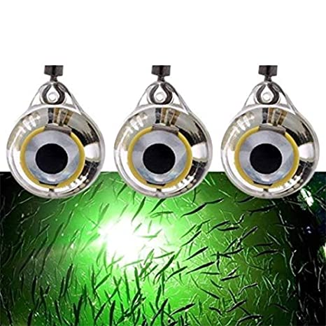 Gaoominy Luces De Pesca Se?uelo Luz De Pesca Submarina LED De Noche Brillante Fluorescente En Novhe para Atraer Peces Suministros De Pesca LED Luz Verde
