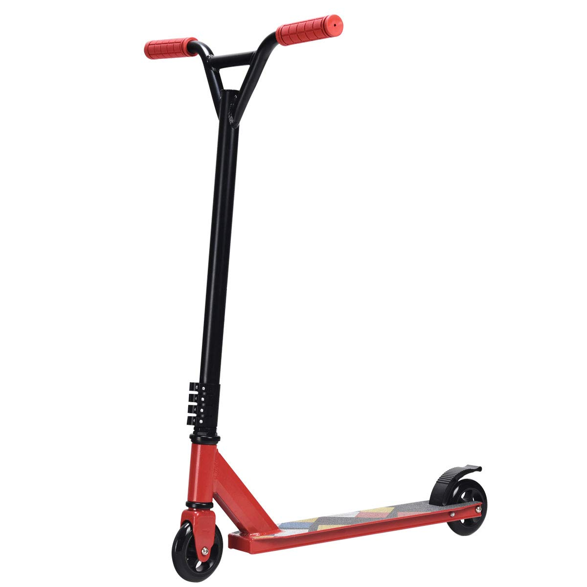 S AFSTAR Safstar Kick Scooter Lightweight Aluminum Freestyle Stunt with 2 Wheels for Kids Teenagers Adults (Red)