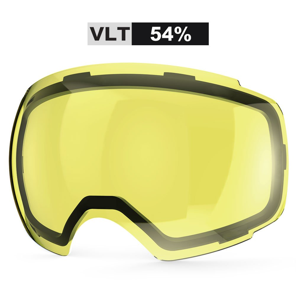 ZIONOR Lagopus X4 Ski Snowboard Snow Goggles Replacement Lenses (VLT 54% Bright Lens) by Zionor