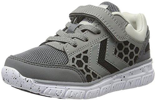 Hummel Crosslite Sneaker Jr, Zapatillas Deportivas para Interior Unisex Niños Gris (Castle Rock)