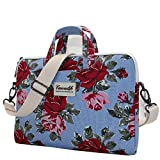 Canvaslife Blue Flower Laptop Shoulder Bag 11.6 Inch/ 12.5 Inch /13.3 Inch Laptop Briefcase for Macbook Air 11/macbook Air 13 /Macbook Pro 13 /Dell/hp/lenovo/sony/toshiba/ausa/acer/samsung Laptop Case