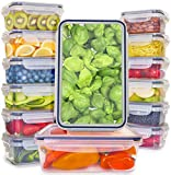 [14-Pack] Food Storage Containers with Lids - Plastic Food Containers with Lids - Plastic Containers with Lids BPA Free - Leftover Food Containers - Airtight Leak Proof Easy Snap Lock Food Container