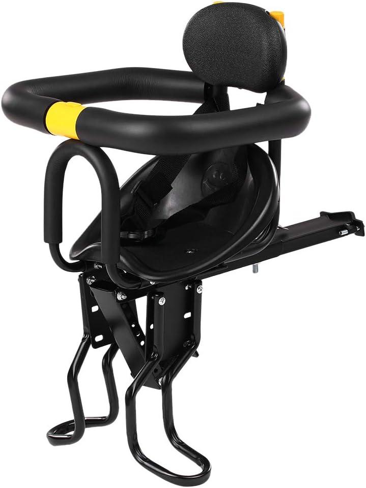 Asiento Infantil para Bicicleta de Montaje, Asiento Delantero de Seguridad para Niños con Pedales Respaldo para MTB Road, Adecuado para Hasta 25 kg de 8 Meses a 7 años