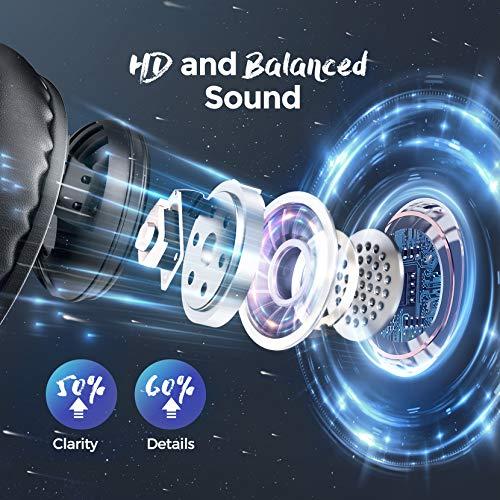 Mpow Bluetooth 5.0 Auriculares Over Ear, hasta 60 horas, Inalámbrico Over Ear con CVC 8.0 Micrófono, Hi-Fi, Plegable…