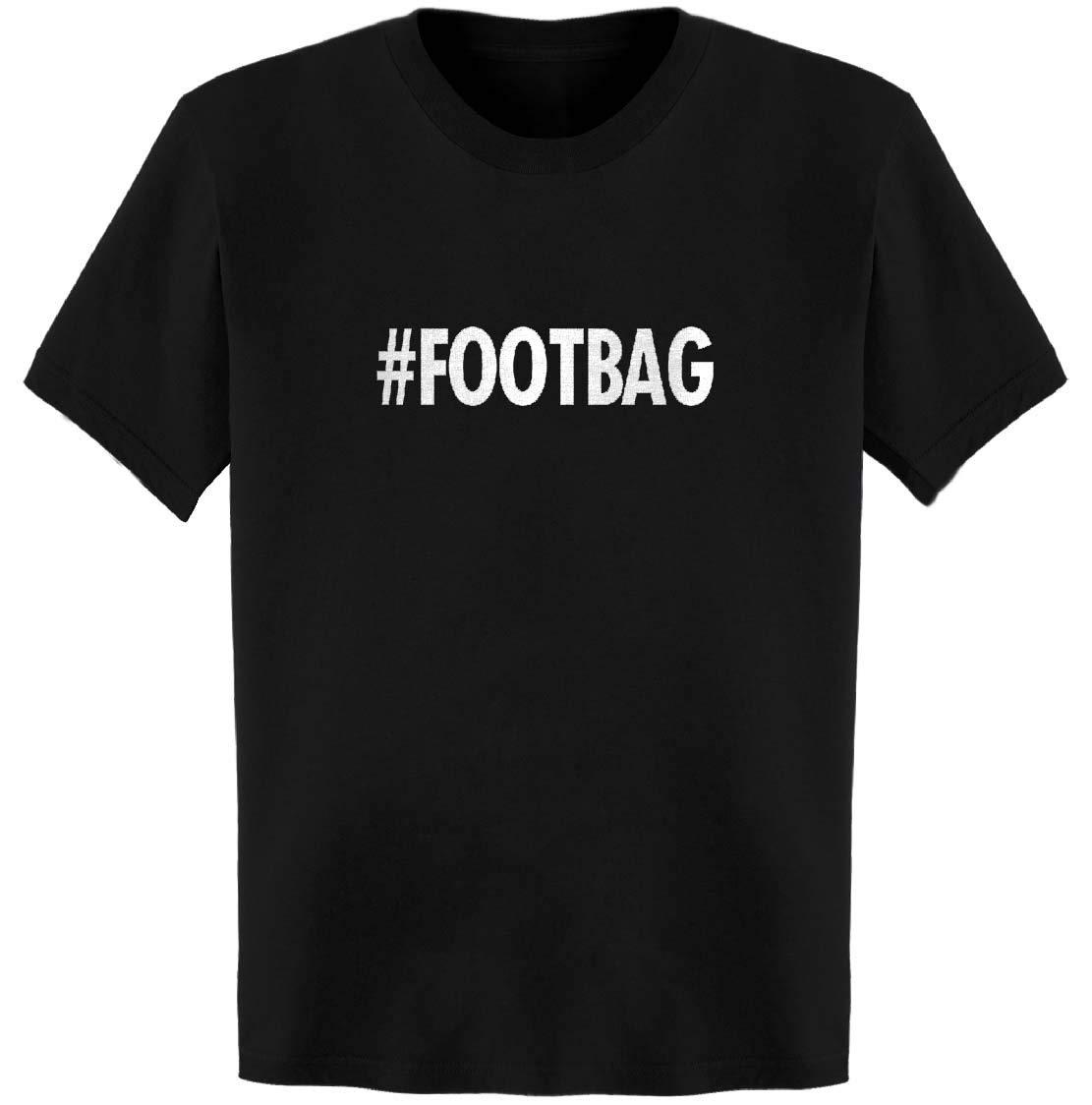# Hash Tag #Footbag T-Shirt Black