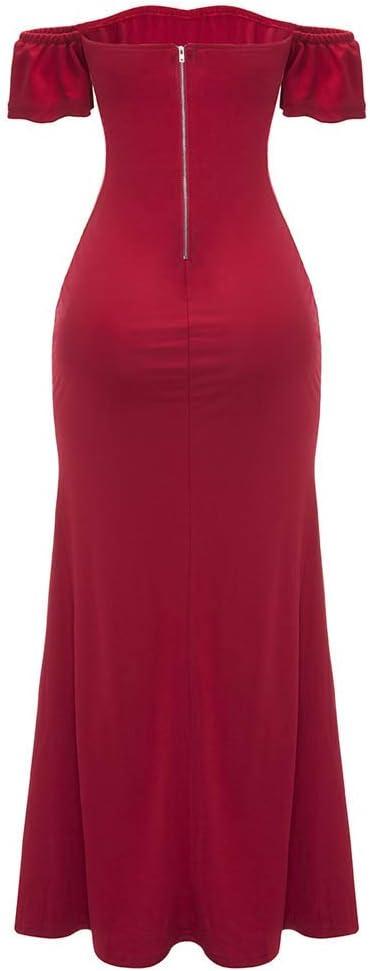 Yonin damska sukienka, uwodzicielska pleciona sukienka w pudełeczku, damska sukienka z normalnym lakierem, z przegrÓdkami, duża, formalna sukienka wieczorowa, na imprezę, dla panny młodej: Odzież