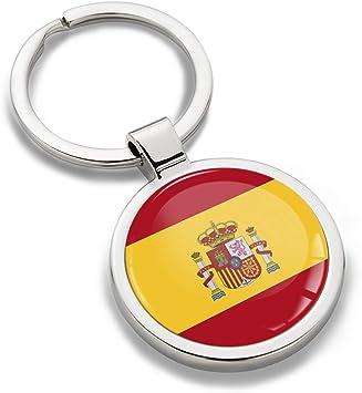 Biomar Labs® Llavero de Metal 3D con Bandera Nacional de España ...