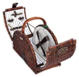 Cheap Willow Double Lid Picnic Basket