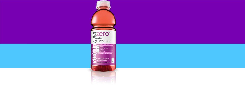 vitaminwater revive zero reset, electrolyte enhanced water w/ vitamins, Fruit Punch, 20 fl oz