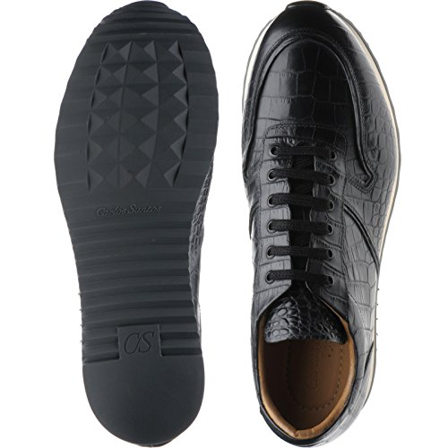 Herring Herring Estoril, Scarpe stringate uomo nero Black Croc