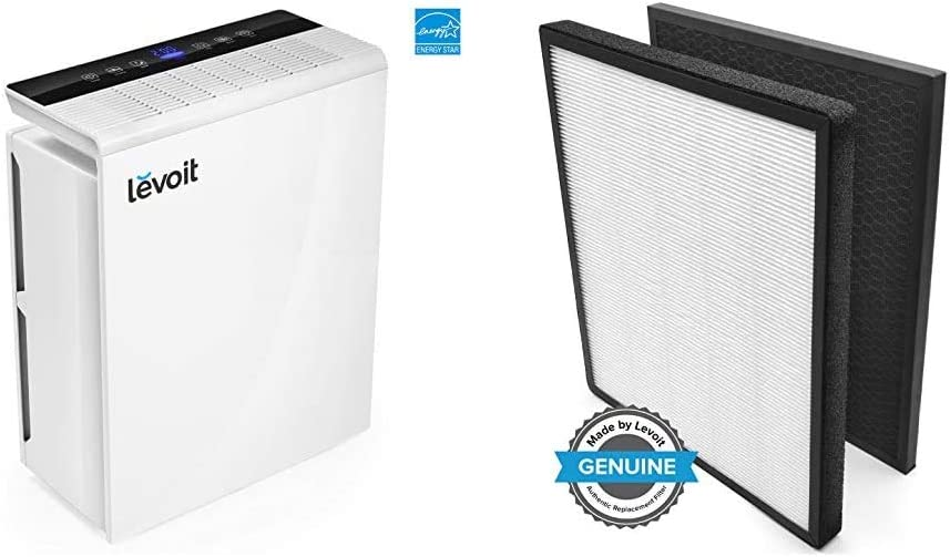 LEVOIT Air Purifier for Home Bedroom, H13 True HEPA Filter for Extra-Large Room, LV-PUR131 & Air Purifier LV-PUR131 Replacement Filter, True HEPA & Activated Carbon Filters Set, LV-PUR131-RF