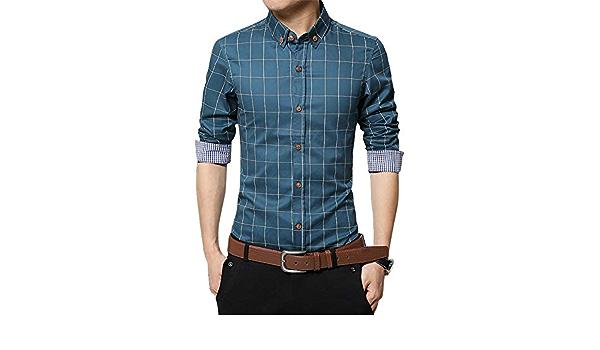 SFYZY Camisa de algodón con Botones para Hombre Camisa de ...