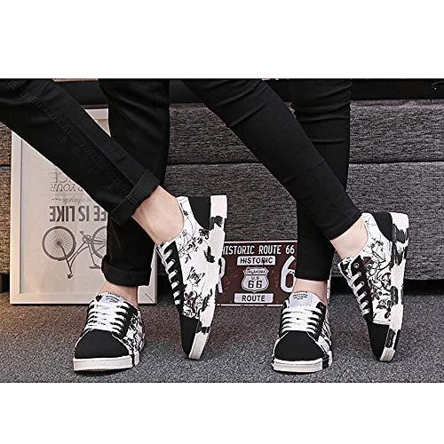 Scarpe Uomo Autunno E Tendenza Sneakers Casual Allacciatura Piatte Moda Bassa Indossare 42 Primavera Sport l Tela H Traspirante Da 1qnx706E