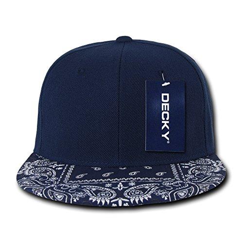 DECKY Bandanna Snapbacks Bandana Cap (One Size, Navy / Navy)