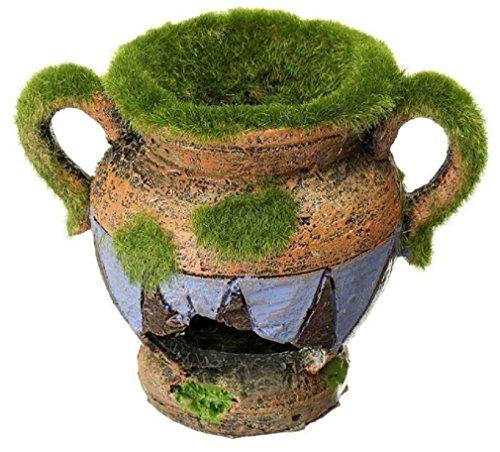 1pcs resin vase with moss aquarium decoration accessories for Aquarium vase decoration